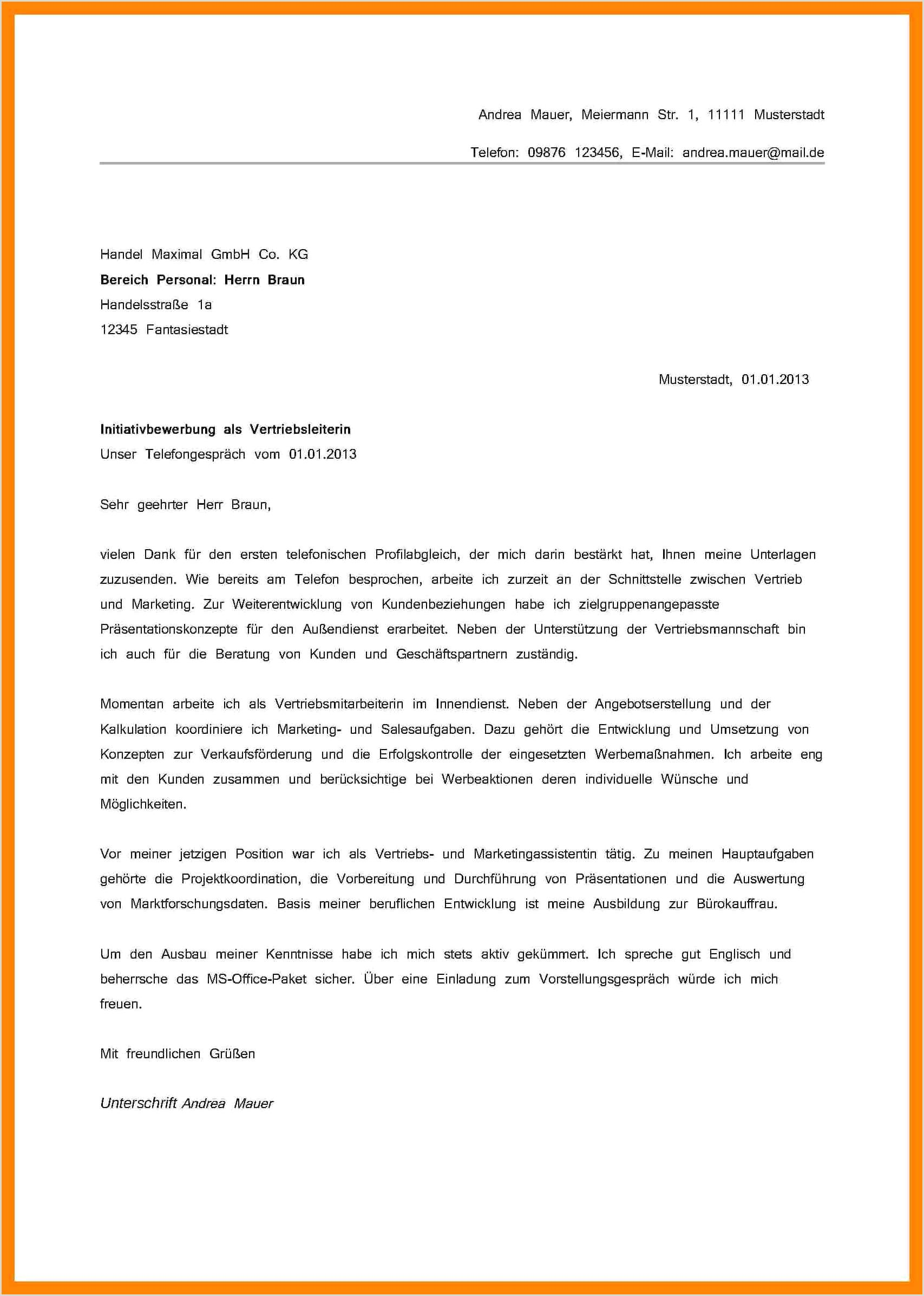 Frisch Din 5008 Bewerbung Vorlage Word Briefprobe 6