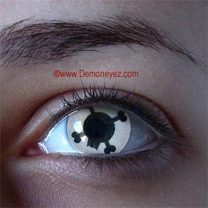 skull n crossbones halloween contact lenses for pe eyes contact