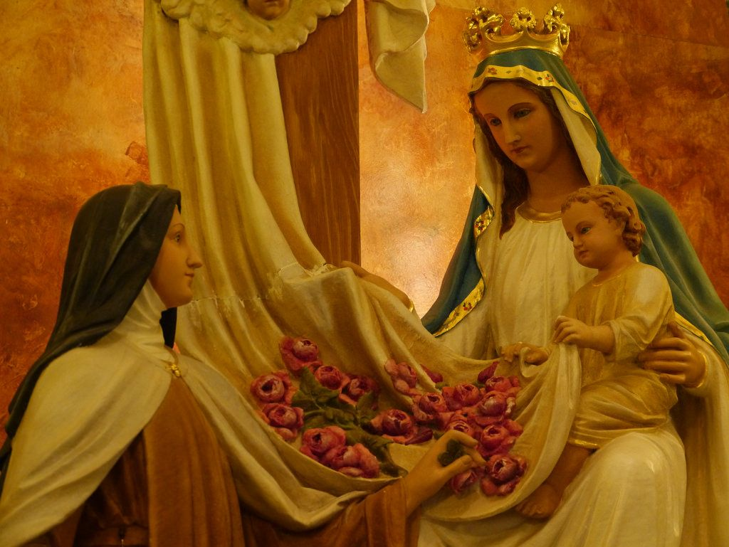 Mary is handing us over to God   by Totus2us.com