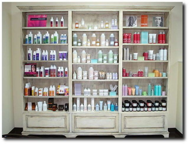 Product display but smaller scale just one tower my for Salon spa supply