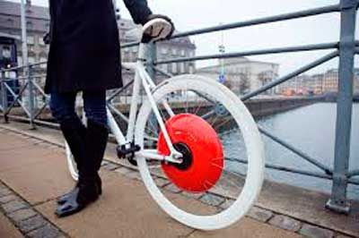 Rueda copenhague, un adelanto para la convertir cualquier bicicleta en eléctrica. Propiedad de componentes bicicleta baratos en Zaragoza.