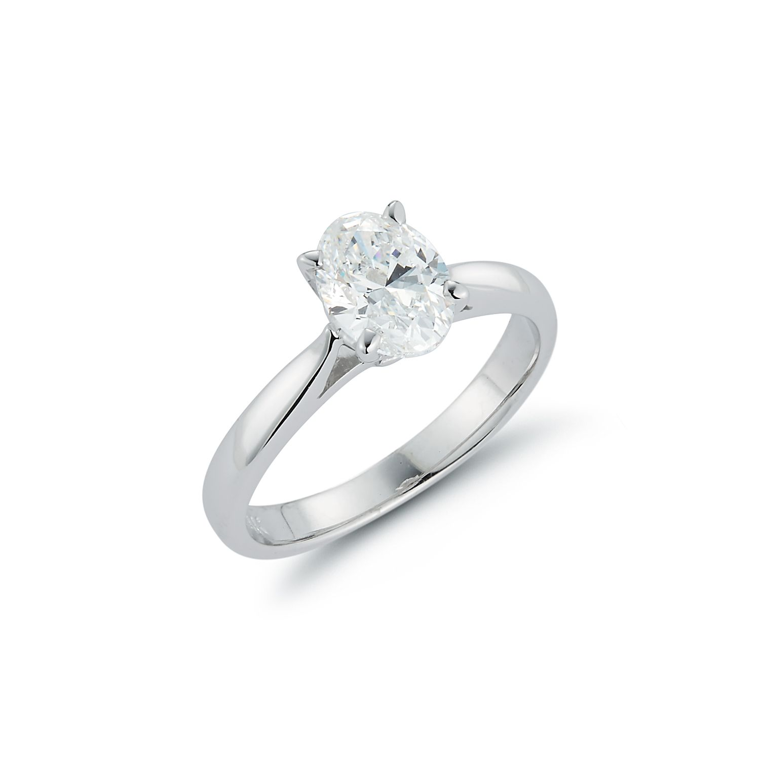 Classic Oval Solitaire Custom Diamond Rings Engagement Rings Single Stone Ring