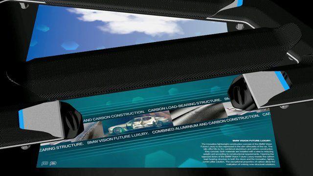 Exhibit to demonstrate the Carbon technologies of the BMW Future Luxury Concept Car, Auto China 2014  The MESO Team: Sebastian Oschatz, Johannes Lemke, Sarah Schmidt, Ulrich Schneider, Klaus-Peter Texter  http://www.meso.net/BMW-Carbon-Demonstrator  (c) 2014 by MESO Digital Interiors GmbH