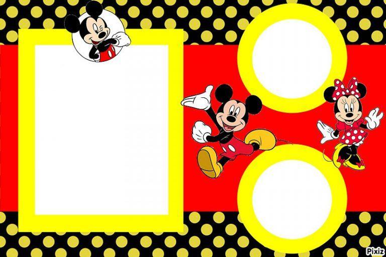 Invitaciones De Mickey Mouse Para Editar En 2019