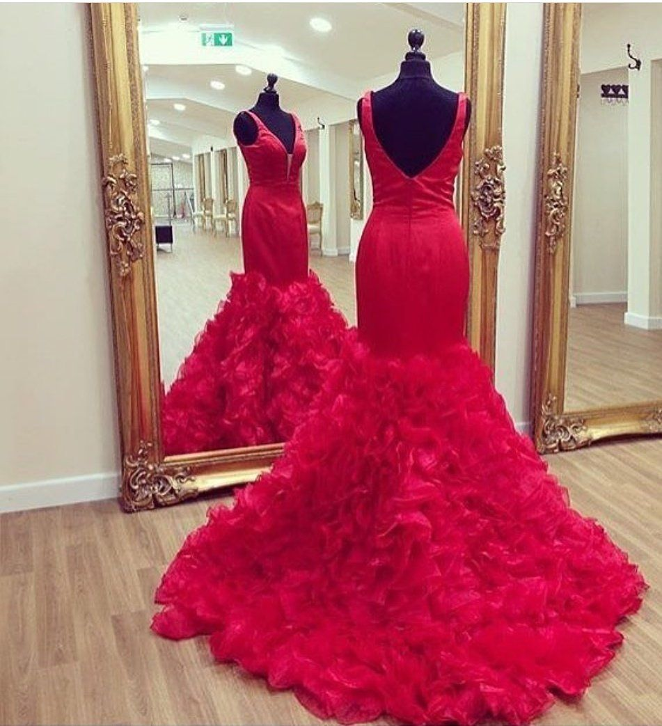 Mermaid Red Prom Dresses, Formal Dresses, Graduation Party Dresses ...