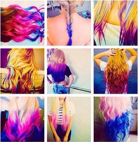 Colorful Hairdo's   #Hairtypes #Dyed