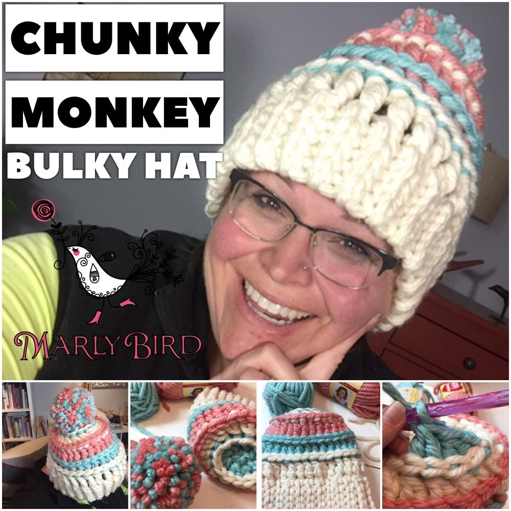 Chunky monkey bulky hat free bulky crochet messy hat pattern by chunky monkey bulky hat free bulky crochet messy hat pattern by marly bird bankloansurffo Images