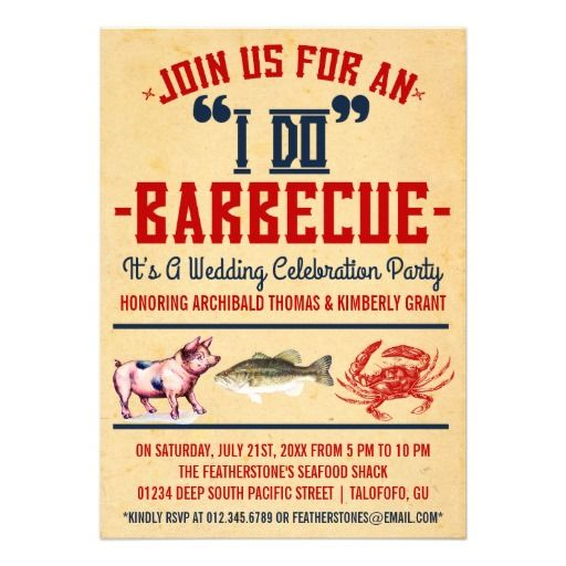 Western I Do Barbecue Wedding Party Invitations My Dream Wedding