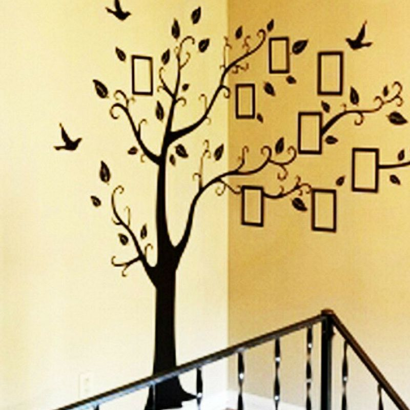 Family Tree Wall Art Picture Frame.Family Tree Picture Frame Wall Decor Stickers Products