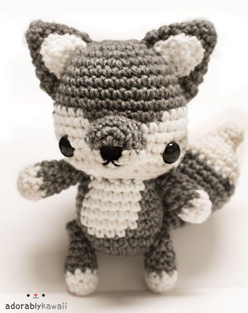 Baby Wolf Amigurumi pattern by Amanda Maciel   Animales tejidos ...