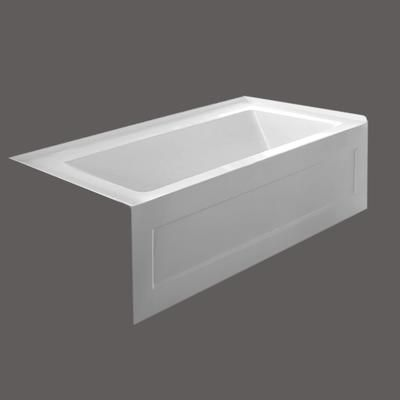 Valley Quad 54 X 30 Pouces Jupe Baignoire Vidange De La Main Gauche Quad5430sklh Home Depot Ca Small Bathroom Renos 54 Inch Bathtub Small Bathroom Design