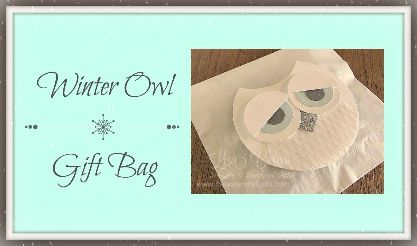 Winter Owl Gift Bag using Stampin' Up! Punches
