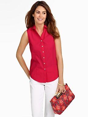 dd1fa01b4428 Talbots - Wrinkle-Resistant Sleeveless Shirt
