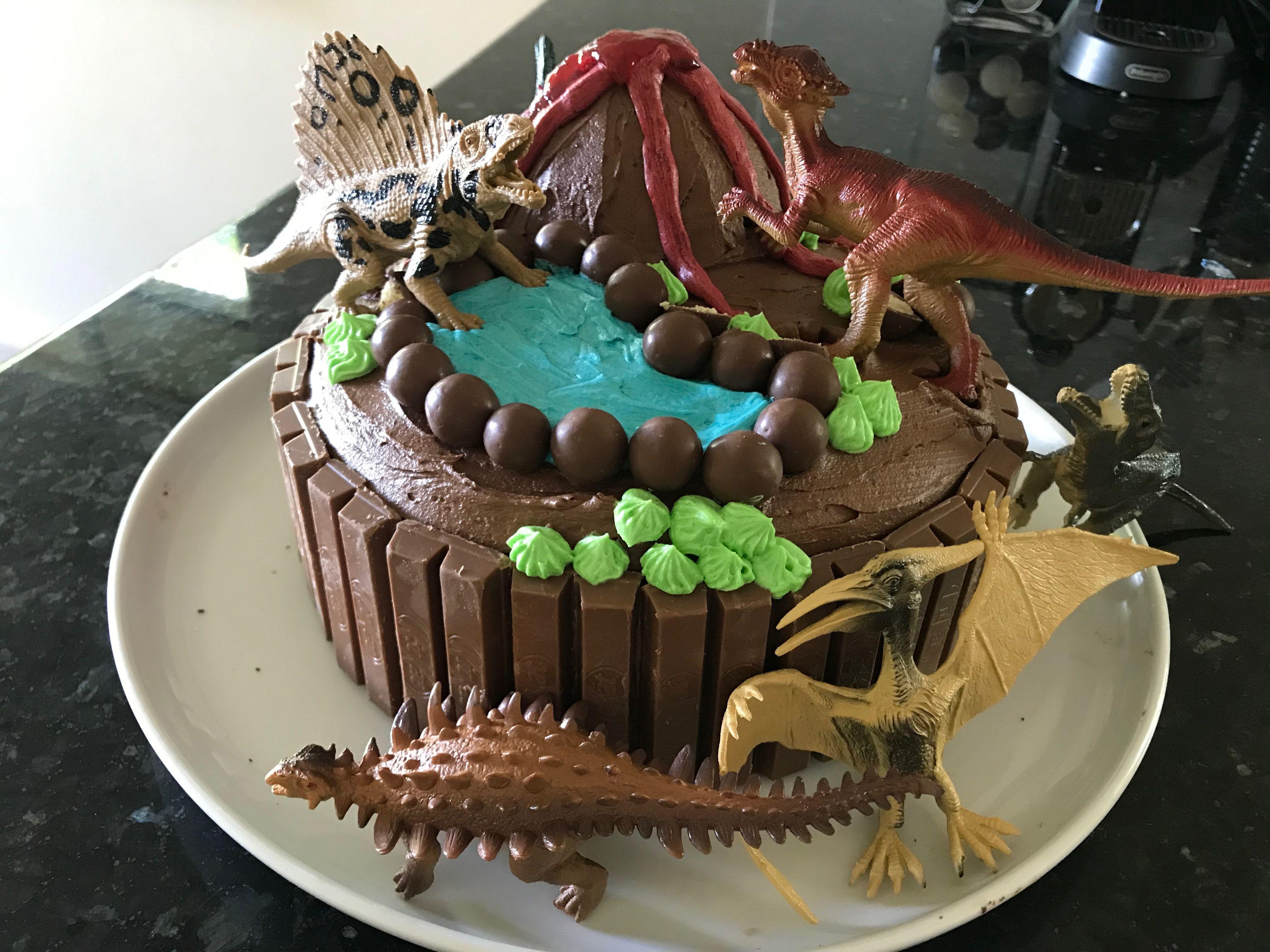 Fabulous Easy Dinosaur Cake Dinosaur Cake Easy Dinosaur Birthday Cakes Personalised Birthday Cards Cominlily Jamesorg