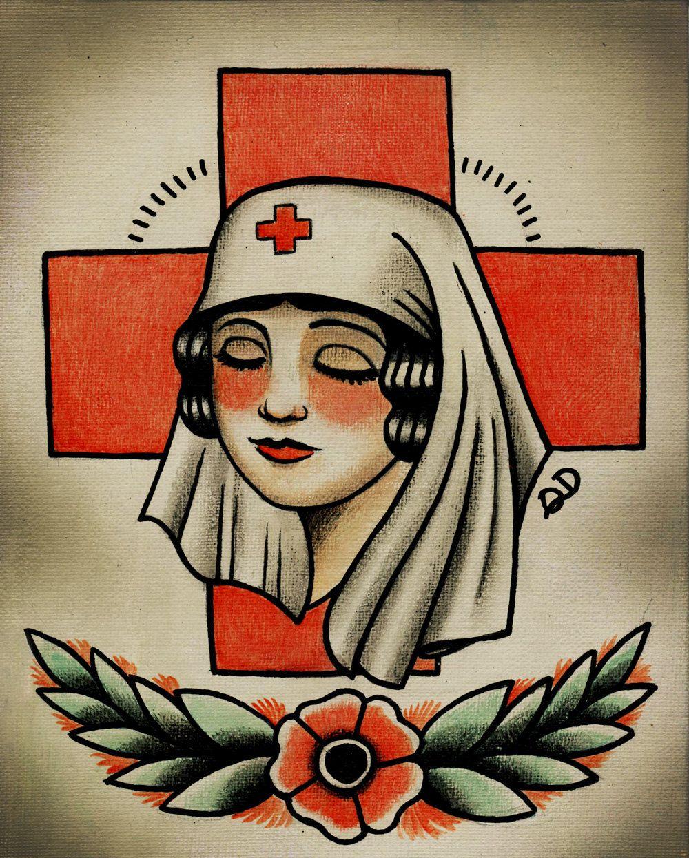 Old school nurse tattoo google search tattoo ideas for Tattoo school listings