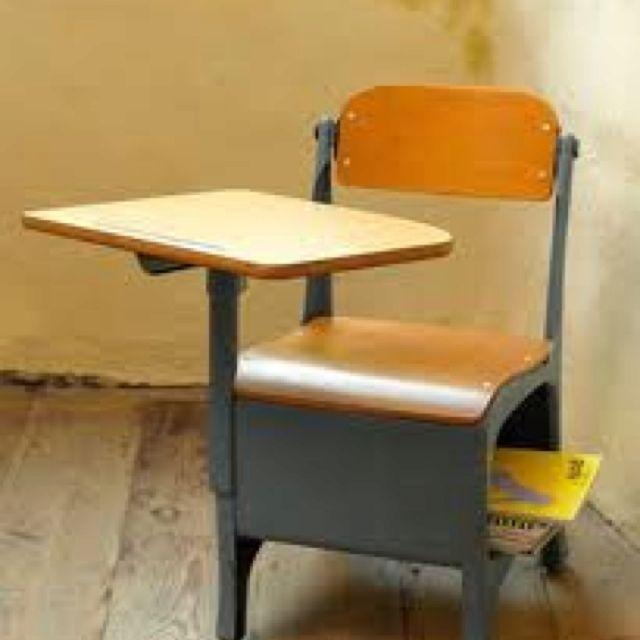 My middle school desks were kinda like this  Fond