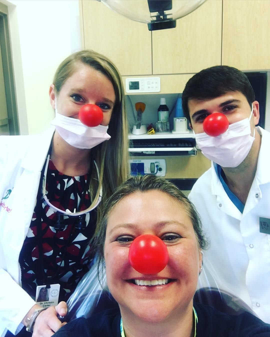 All smiles at the dentist thatus the magic of rednoseday regram