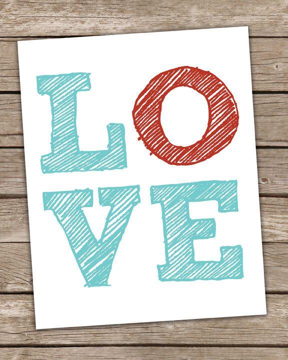 Love Word Art Print