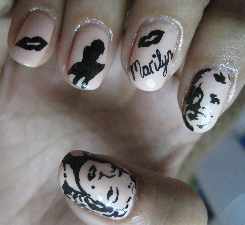 marilyn monroe nail art - Google Search | nail art | Pinterest | Art ...