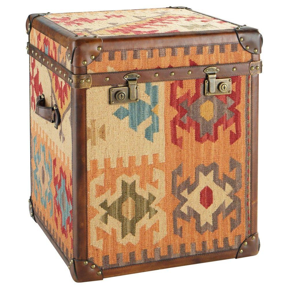 maisons du monde malle kilim ethnic chic malle. Black Bedroom Furniture Sets. Home Design Ideas