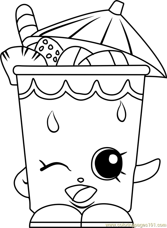 Little Sipper Shopkins Coloring Page Shopkins Colouring Pages Shopkin Coloring Pages Cupcake Coloring Pages