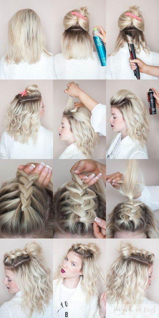 Einfache Frisuren Fur 5 Minuten Frisuren Kurze Haare Flechten Geflochtene Frisuren Flechtfrisuren