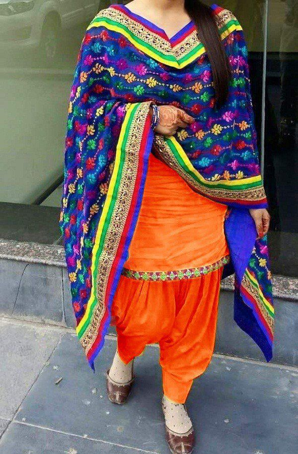 73f48de73a New Designer Orange Color Patiala Suit for Girl. | Patiyala Suits in ...