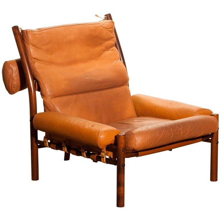 Best 1968 Cognac Leather Safari Chair Inca By Arne Norell 400 x 300