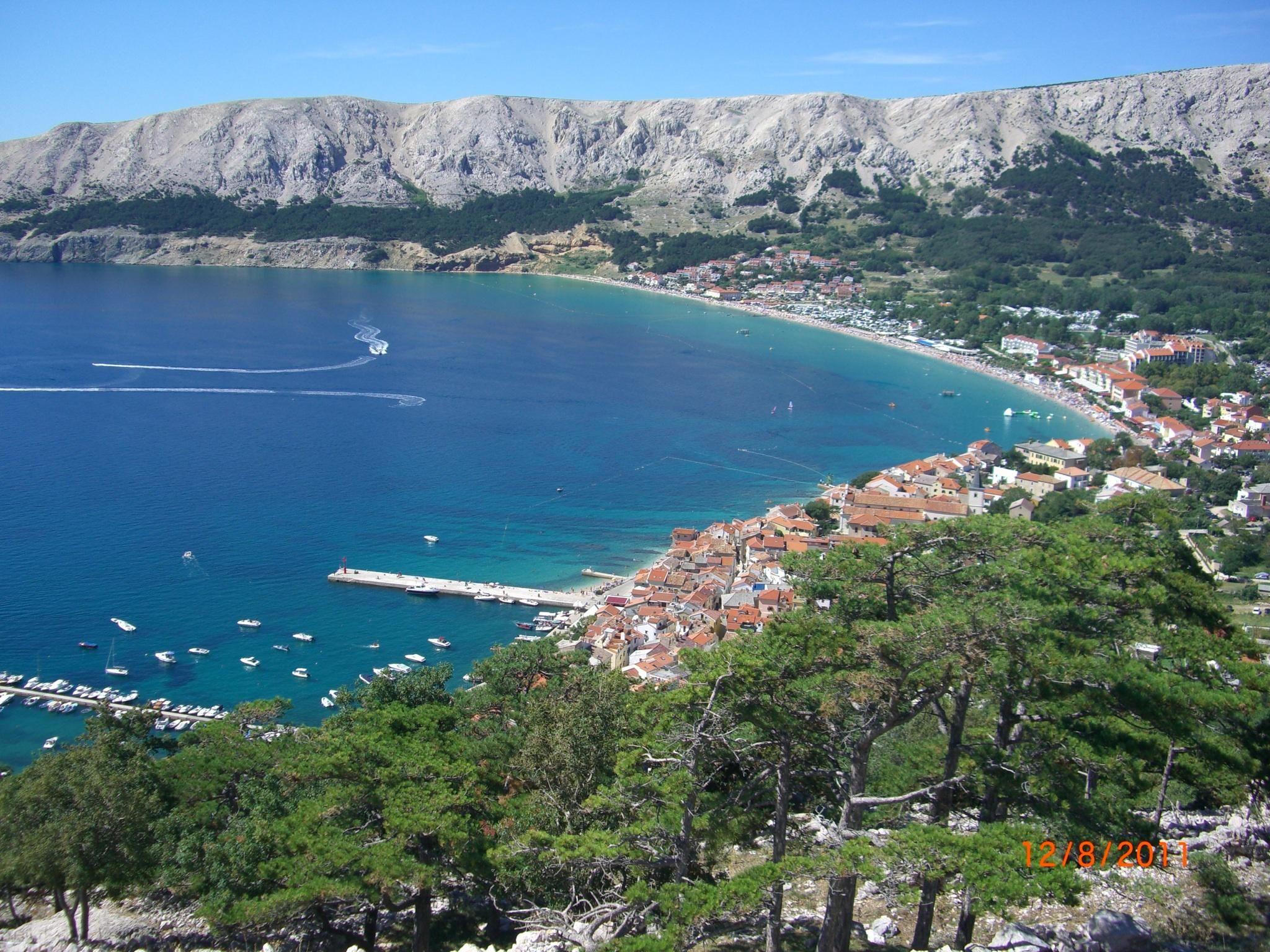 **Baska (popular beach getaway) Krk Island, Croatia Utazás