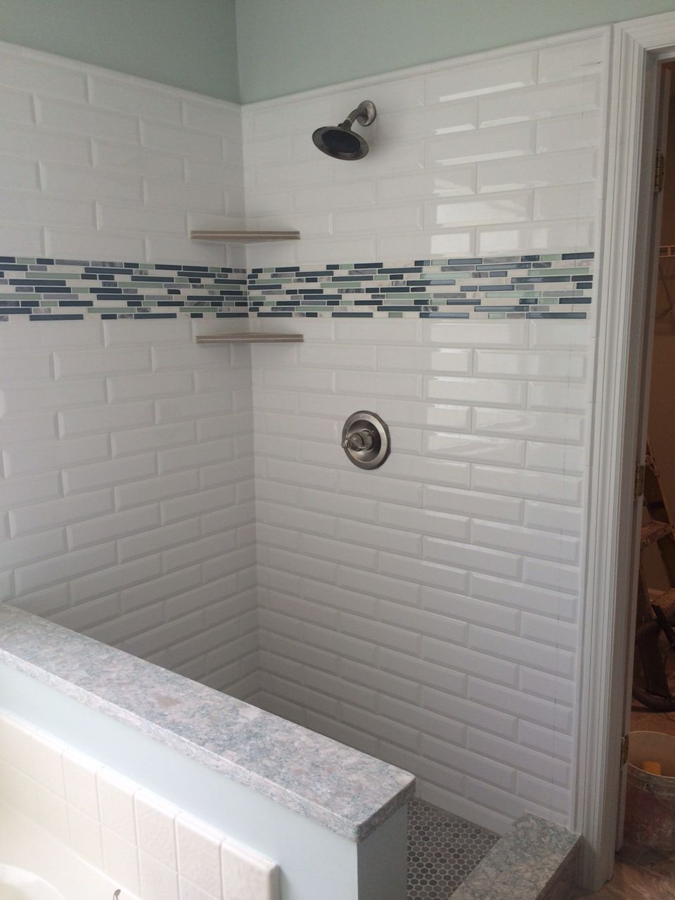 Selecting Shower Tile   Tips And Tricks. White Beveled Subway ...