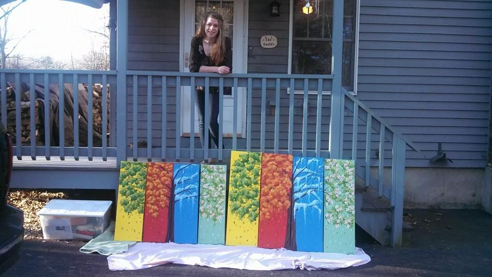 four seasons painting for the hospital!! (oil on canvas)