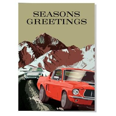 Classic Mustang Christmas Card For The Car Enthusiast In Your Life