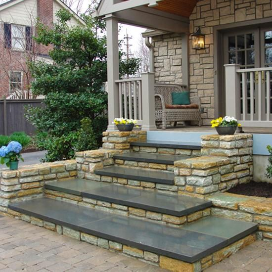 Entrance Staircase Designs To Beautify Homes And Improve Curb | Front Door Steps Designs | Simple Front Step | Single | Front Entryway | Decorative Entry Door | Garden