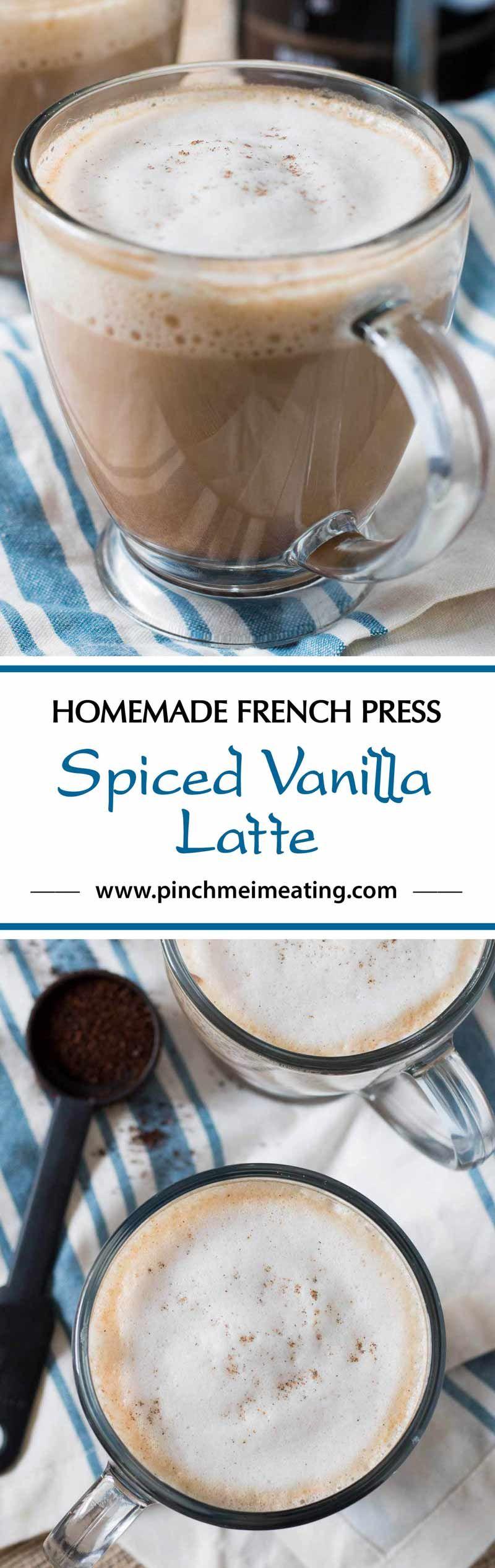 French press spiced vanilla latte recipe latte coffee