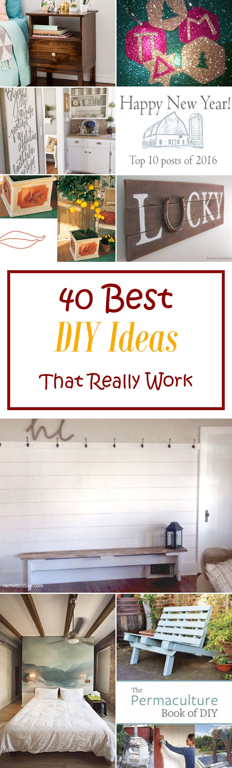 40 Best Diy Ideas That Really Work