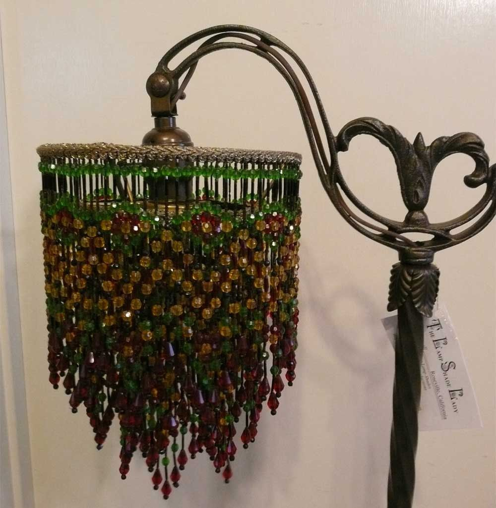 This mary maxwell orininal design all beaded lamp shade is made this mary maxwell orininal design all beaded lamp shade is made for either a floor or mozeypictures Image collections