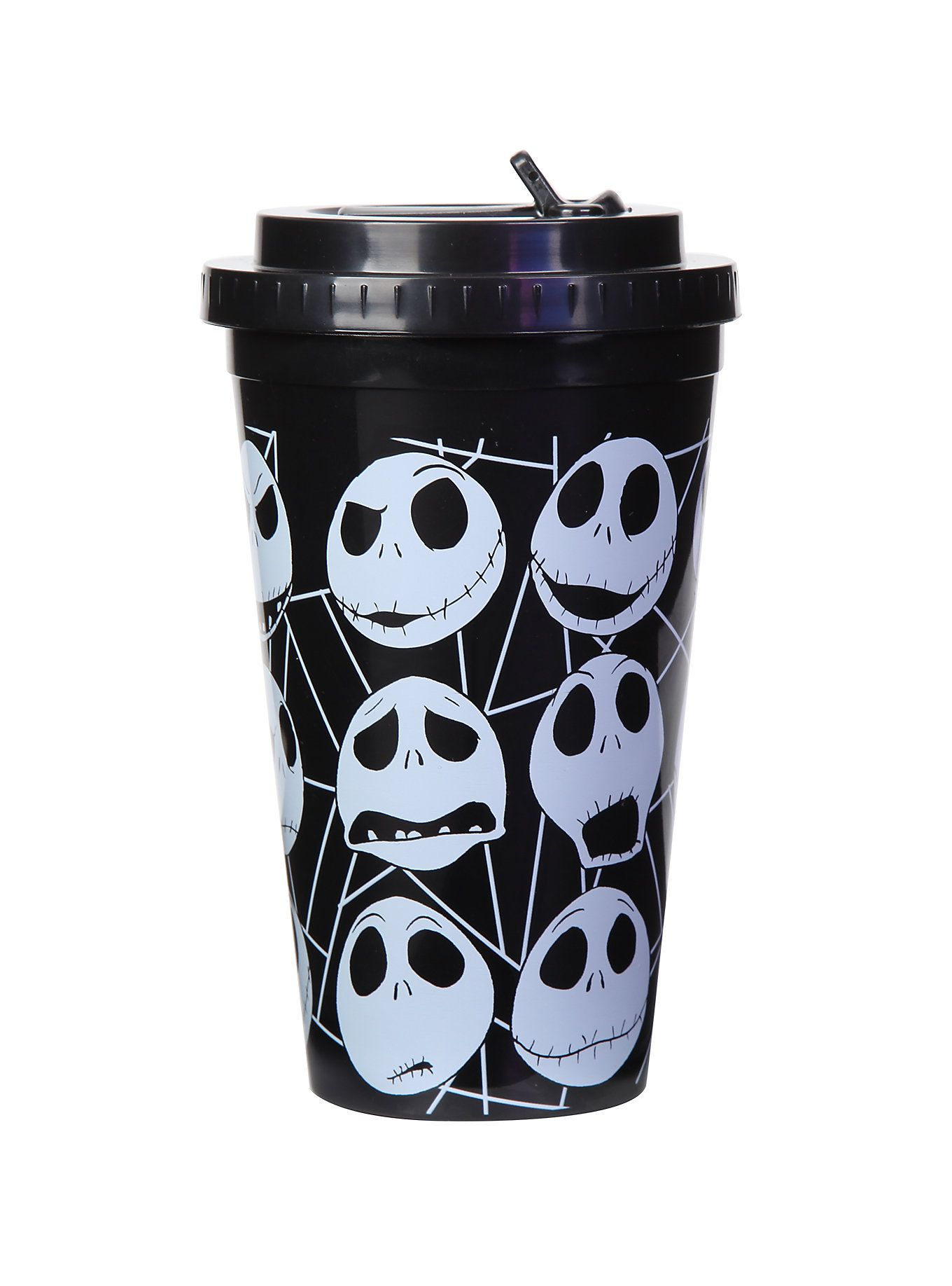 The Nightmare Before Christmas Jack Faces Flip Straw Acrylic Travel ...