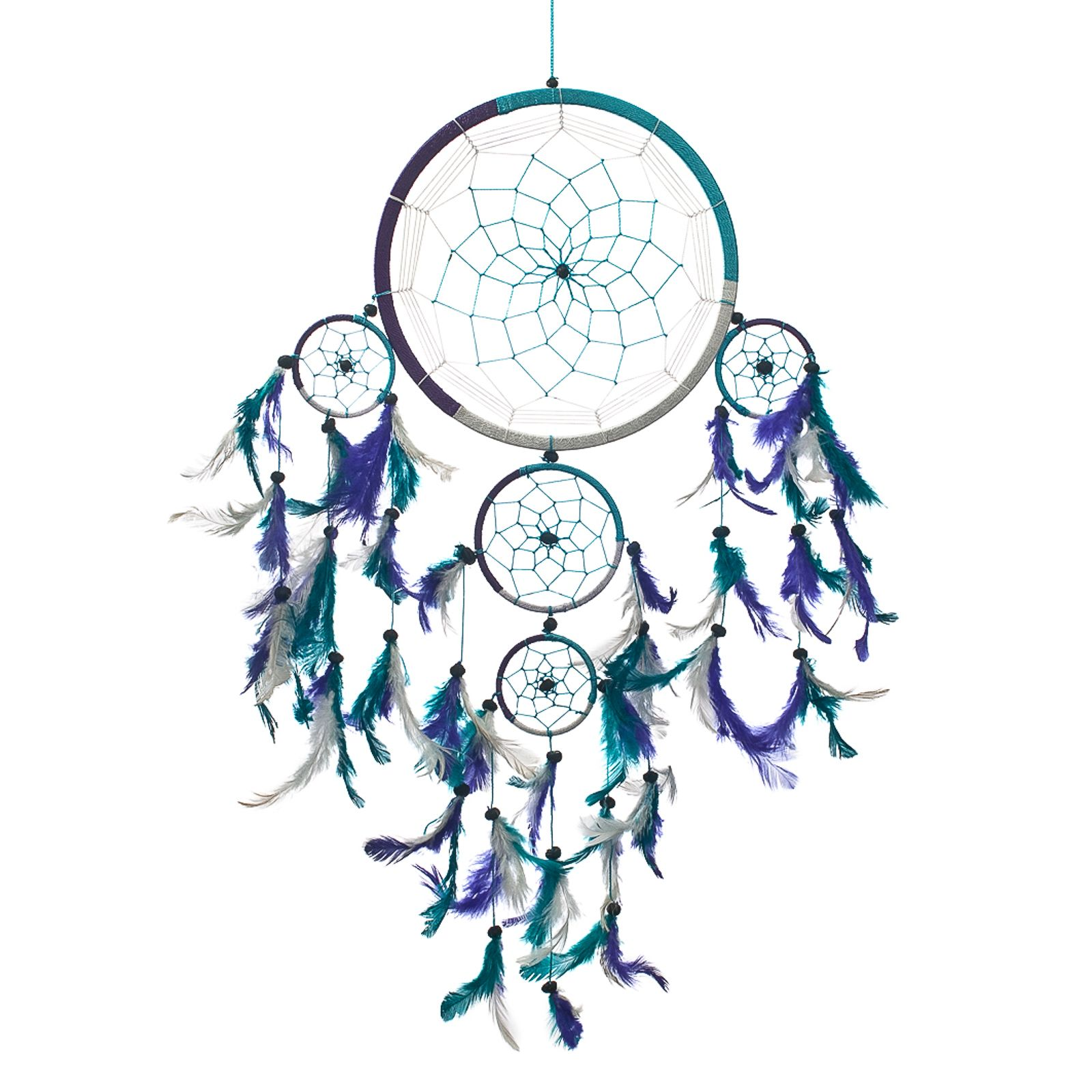 Dream Catcher Handmade Traditional 3 Color Aqua, Purple