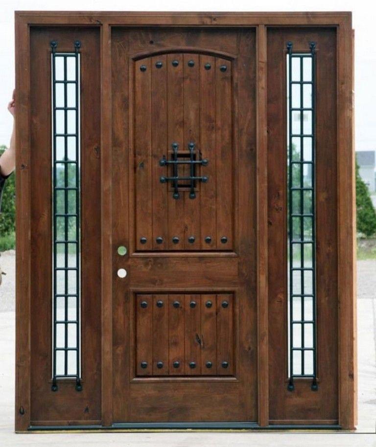 35 Admirable Wooden Exterior Door Ideas Exterior Exteriordesign Exteriordesigncolor Rustic Front Door Wood Exterior Door Rustic Doors