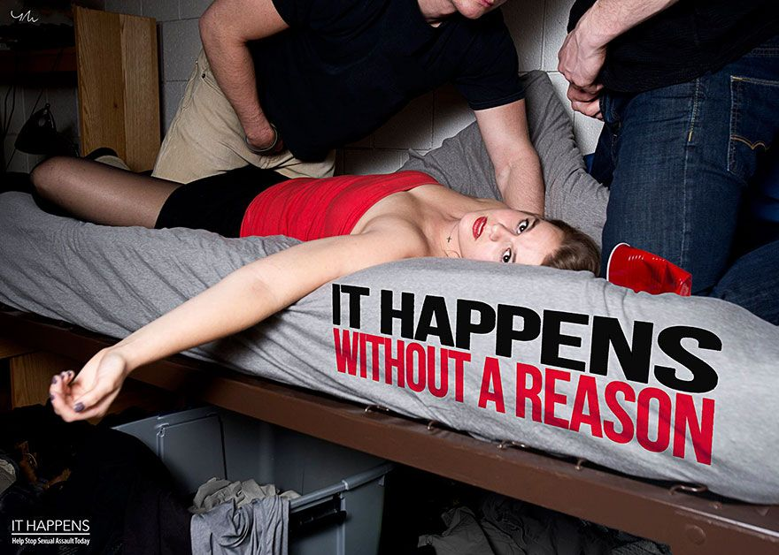 It Happens, des photos dérangeantes pour dénoncer le viol par Yana Mazurkevich