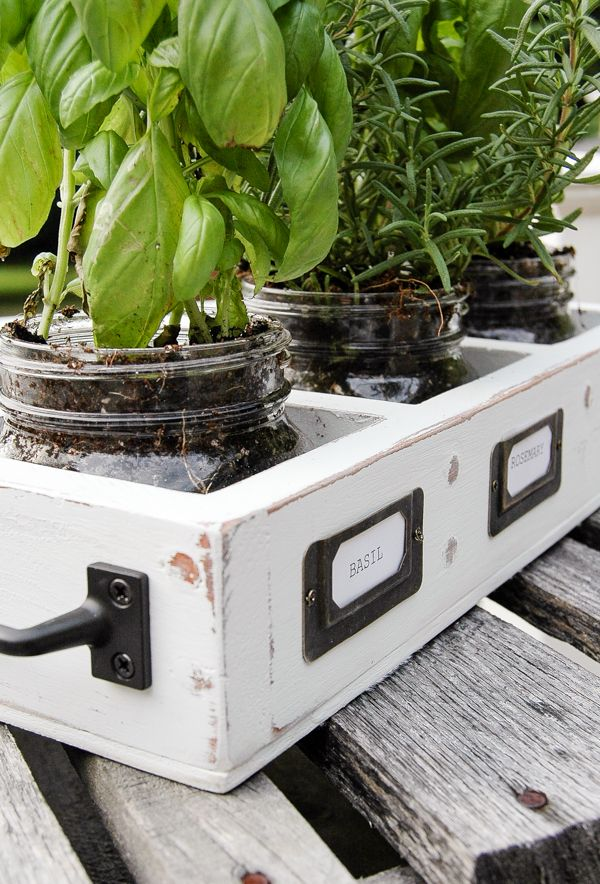 How to Turn an Old Shelf into the Perfect Farmhouse Herb Garden