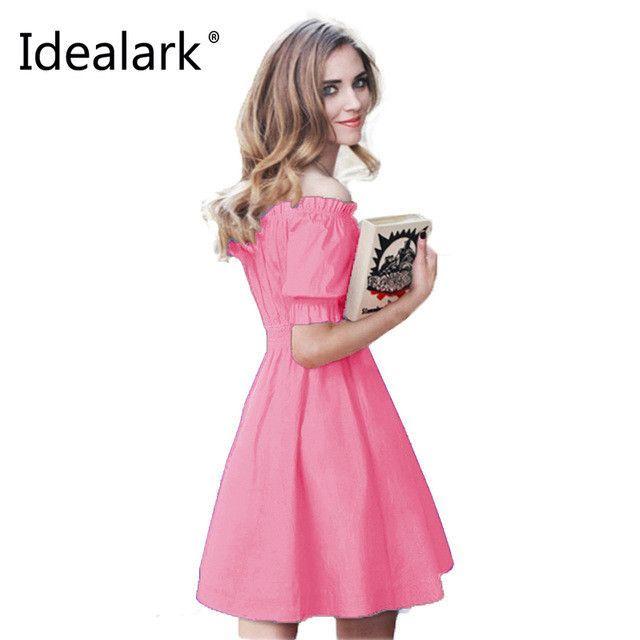 Summer Cotton Women Dress Short Sleeve Casual Dresses Vestidos