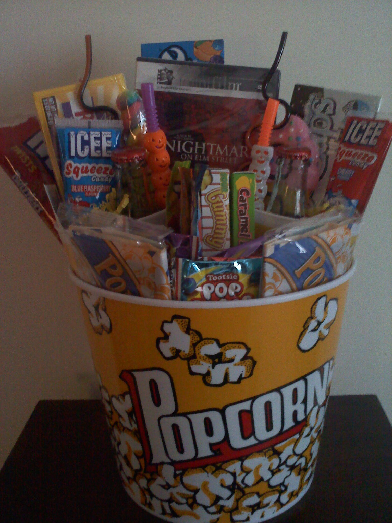 Connies creations movie night gift basket online