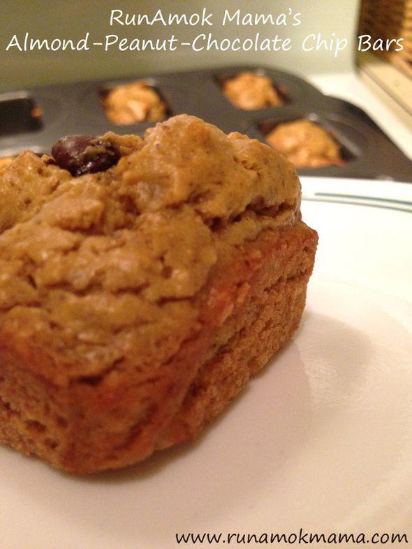 "RunAmok Mama's Almond-Peanut-Chocolate Chip Bars! Sugar-free! (""S"" for Trim Healthy Mama)"