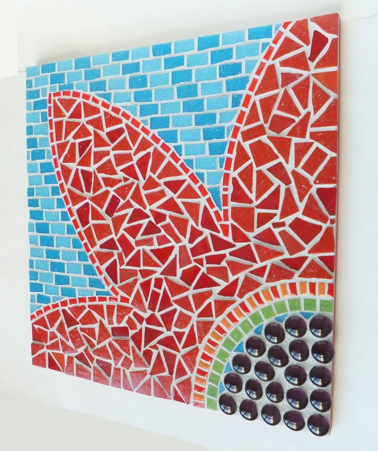 mosaic wall art diy made of broken tiles lulu