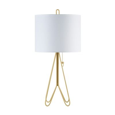 Dark Yellow Metal and White Shade Lights Up! Flight Table Lamp | AllModern