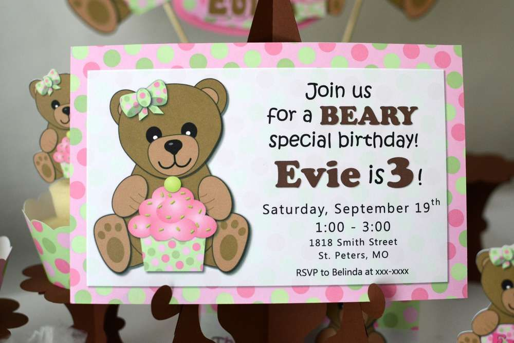 Girl Teddy Bear Birthday Party Ideas | Pinterest | Teddy bear ...
