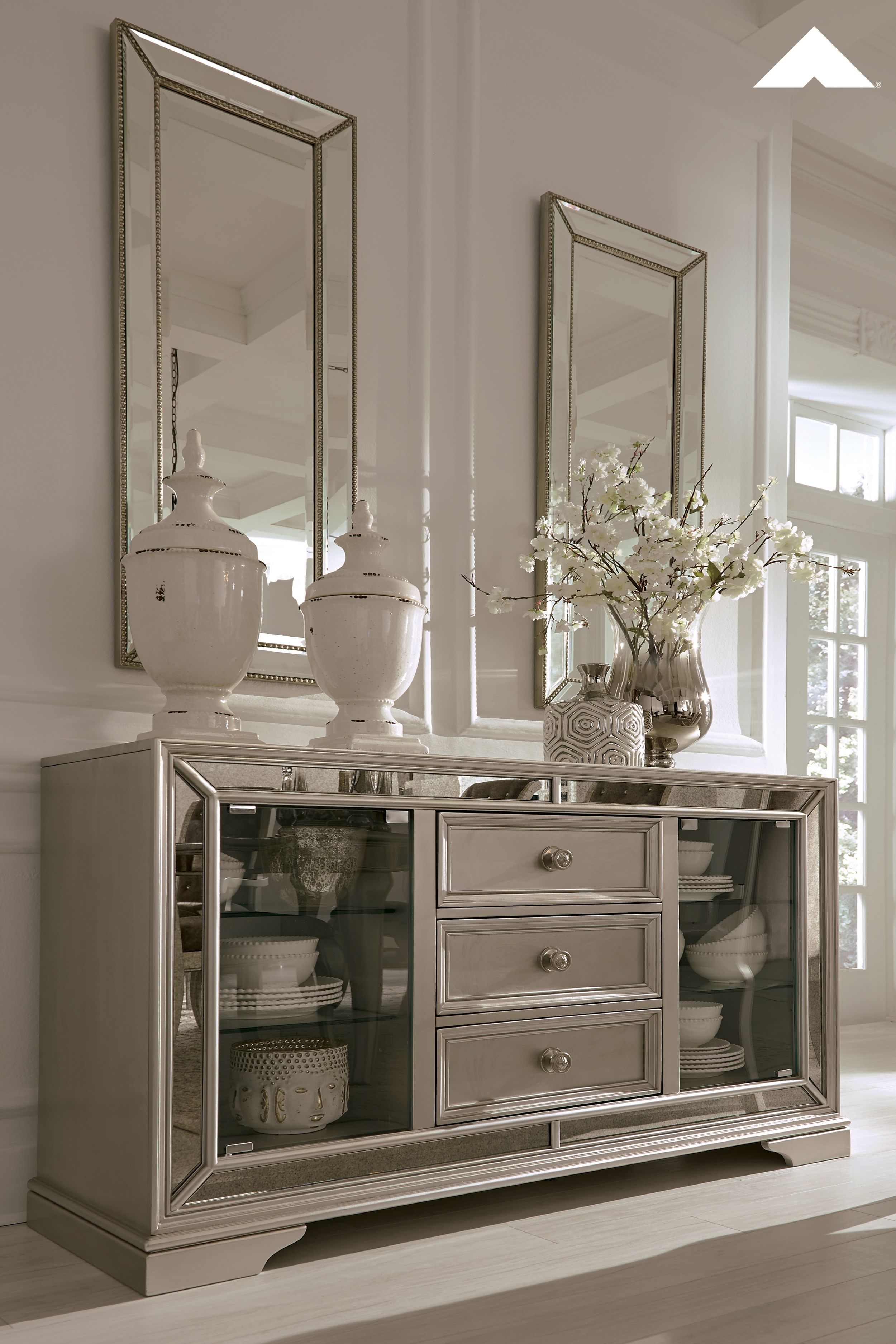 Coralayne Silver Dining Room Server By Ashley Furniture Ashleyfurniture Homedecor Ashley Furniture Dining Room Dining Room Server Ashley Furniture Dining