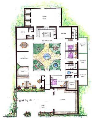 Garden Atrium Homes Http Www Gardenatriums Com Plans Htm Courtyard House Plans Atrium House Luxury House Plans