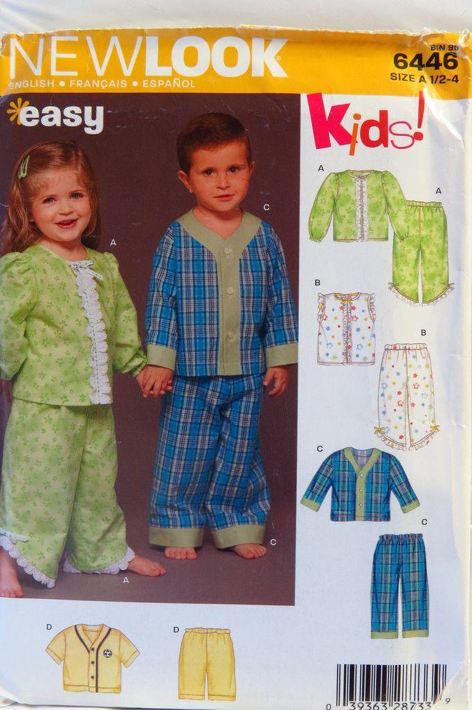 15c709d9f9f6 New Look 6446 Child s Unisex Pajamas and Sleepwear